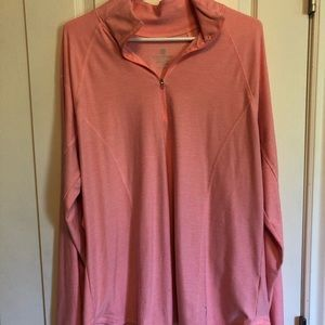 Pink Semi-Fitted Active Long Sleeve